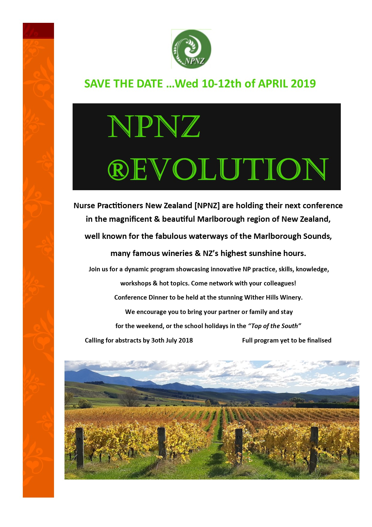 2019 NPNZ Conference Flyer