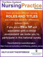 NZ Nursing Practice Survey Ad